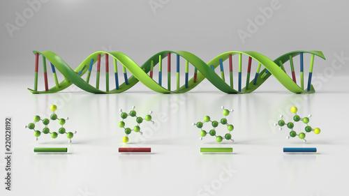 DNA Strang Fotobehang