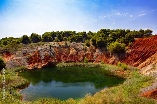 Foto op Plexiglas Bruin Quarry of bauxite in Otranto