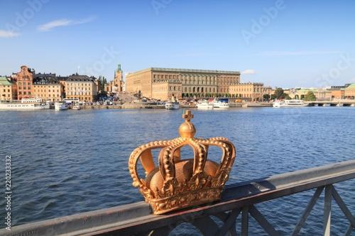 Foto auf Gartenposter Stockholm Stockholm crown