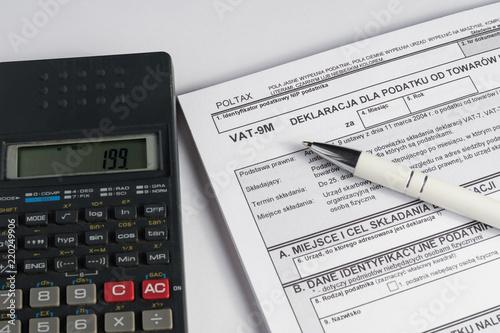 Plakaty do biura rachunkowego rozliczenie-vat