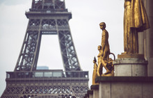 Golden Monuments With Tower Be...