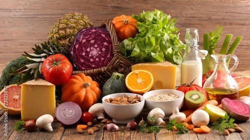 Fototapeta healthy food composition obraz