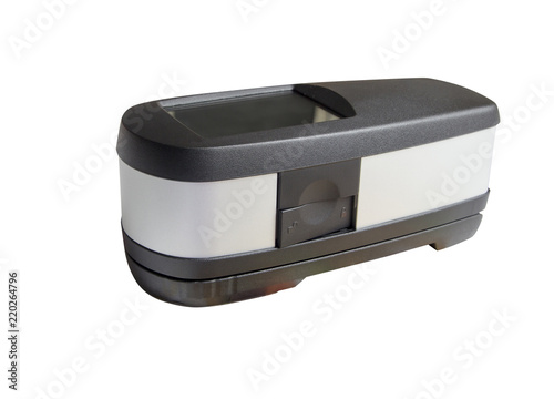 Photo  offset print control unit, spectrophotometer isolated on white sith clipping pat