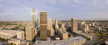 Aerial Panorama Of Downtown Ok...
