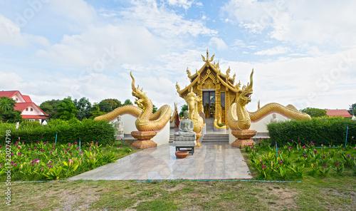 Spoed Foto op Canvas Bedehuis Beautiful temple in thailand.