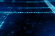 Animation of Abstract Blue Technology Background. Hexadecimal Computer Code. Programming Coding Hacker concept 3d illustration