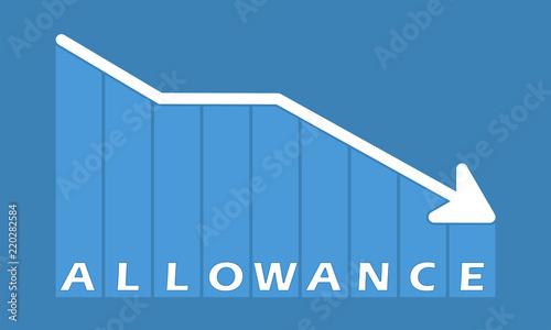 Allowance - decreasing graph Canvas Print