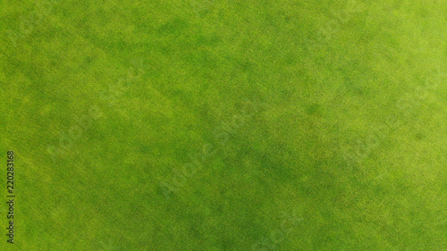 Poster Gras Aerial. Green grass texture background.