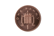 New One Pence Coin Of England ...