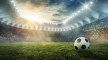 Ball Liegt Im Fußballstadion ...