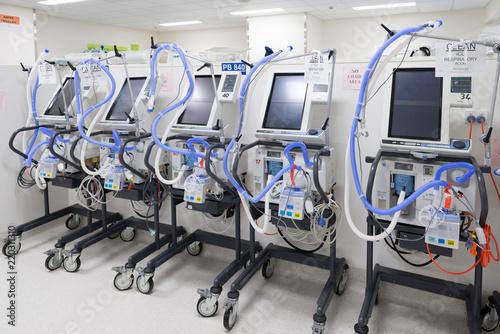 Photo Intensive Care Unit equipment in storage