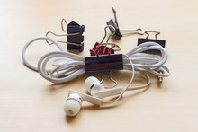 Headphones And Binder Clips