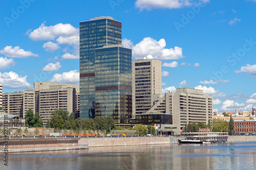 Foto op Aluminium Blauw World trade center in Moscow
