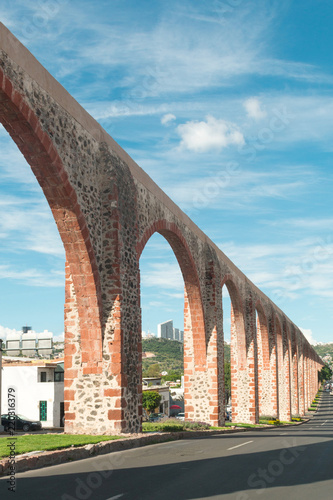 Photo  Aqueduct Queretaro Mexico