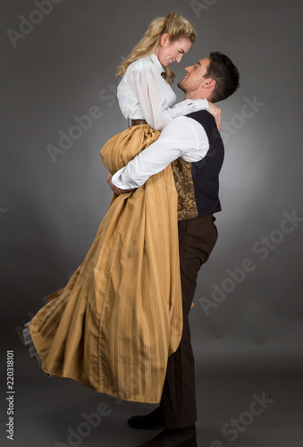 Fotografía Historical Western Couple