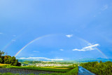 Fototapeta Tęcza - 雨上がりの二重虹
