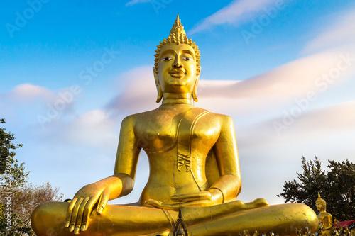 Golden Big Buddha in Pattaya Wallpaper Mural