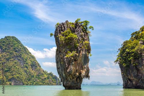 Aluminium Prints Blue James Bond Island in Thailand