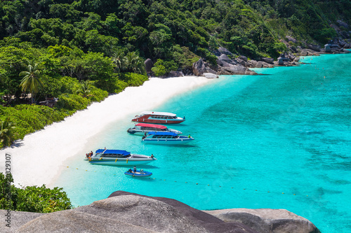 Photo Stands Turquoise Similan islands, Thailand