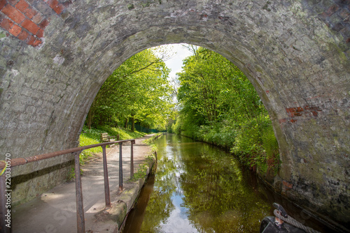 The Whitehouses Tunnel, built in the 18th century, is a still naviagable tunnel on the LLangollen Canal in Wales.