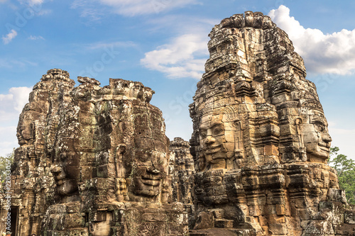 Bayon temple in Angkor Wat Canvas Print