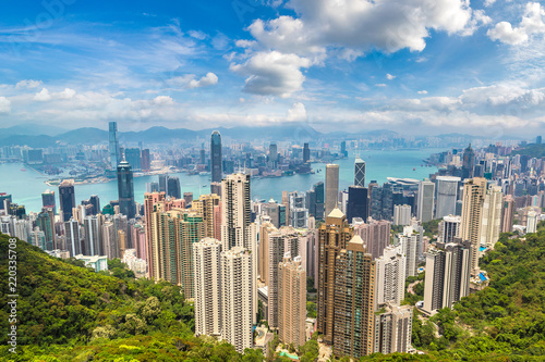 Photo Stands Asian Famous Place Panoramic view of Hong Kong
