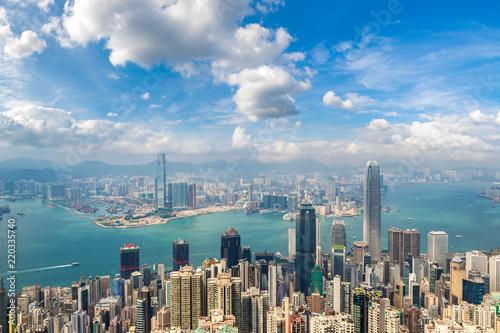Staande foto Aziatische Plekken Panoramic view of Hong Kong