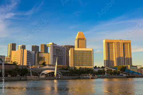 Staande foto Aziatische Plekken Singapore city skyline