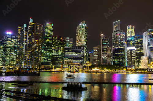 Staande foto Aziatische Plekken Singapore at night
