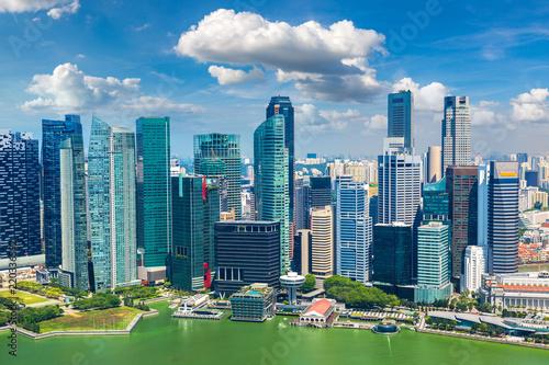 In de dag Singapore Panoramic view of Singapore