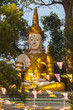 big Buddha infront of wat Phrathat Doi Suthep.Temple is tourist attraction of Chiang Mai, Thailand.
