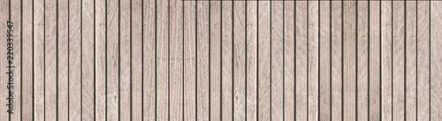 Panorama of brown wood wall background and texture Canvas Print