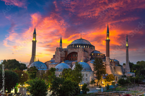 Foto auf Leinwand Hochrote Ayasofya Museum (Hagia Sophia) in Istanbul