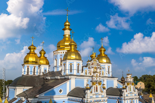 Spoed Foto op Canvas Kiev Saint Michael Monastery in Kiev