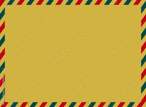 エアメールのイラスト背景クラフト地 ベクターデータトリコロール