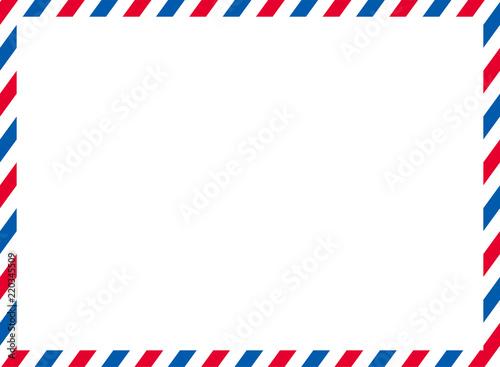Photo エアメールのイラスト背景 ベクターデータ|トリコロールカラー|Airmail