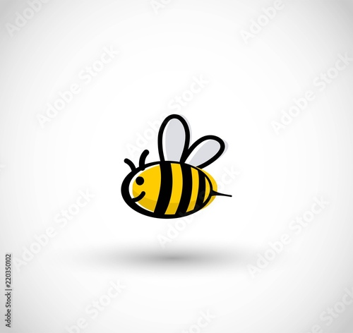 Photo Cute bee vector illustration