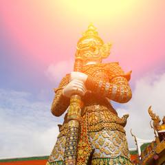 Demon Guardian in Wat Phra Kaew Grand Palace
