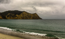 Cloudy Sky At Los Frailes Beach In Machalilla National Park, Puerto Lopez - Ecuador