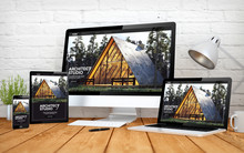 Architect Website Responsive Design Screen Multidevices