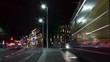Time-lapse, Westmoreland Street at night Dublin Ireland
