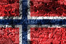 Norway Grunge Rusted Metal Texture Flag, Rust Metal Background