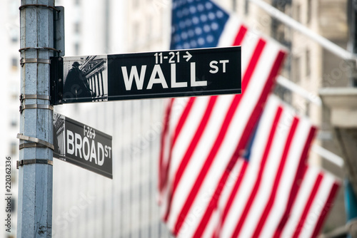 Foto op Canvas New York City Wall Street in Lower Manhattan, New York City, USA