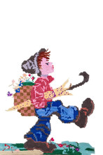 Hand Embroidery Painting Boy T...