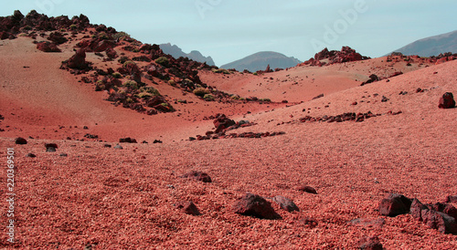 Stampa su Tela Red Planet - Mars - surface