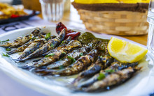 Grilled Sardines, Crete, Greek...