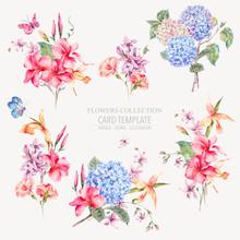 Vector Vintage Floral Set Of H...