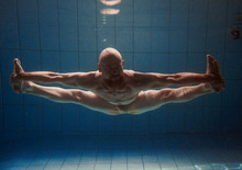 Athletic Sport Man Underwater ...