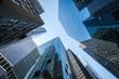 Leinwanddruck Bild - Hochhäuser und Büros in New York City, USA