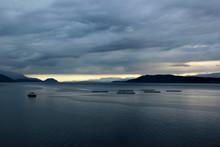 Fish Farms In Hardanger Fjord,...